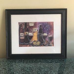 Other - 🍷 Framed wine print🍷